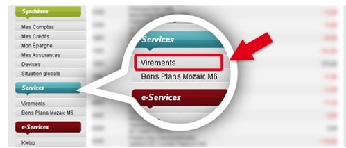 virements services