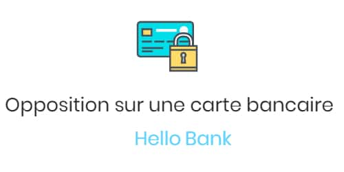 faire opposition à sa carte bancaire hello bank